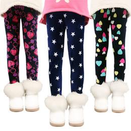 calças de flores para meninas Desconto Meninas Calças Crianças Calças Outono Inverno Bebê Leggings Colorido Imprimir Flor Borboleta Amor