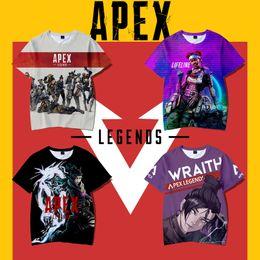 2019 jeu vidéo multi Apex Legends T-shirt 25 styles été 3D Print Jeux vidéo T-shirts à manches courtes O Neck Tees Survêtement Fitness Tops Blouse adolescent XXS-4XL AAA1872 promotion jeu vidéo multi