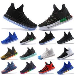 super popular 83768 1cc1b 2019 chaussures kd multicolores Nouveau classique Zoom KD 10 Hommes  Chaussures de basketball Être vrai BHM