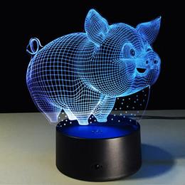 Deutschland Schwein 3D Nachtlicht für Kinder, 3D LED Illusion lampe 7 Farben Wickeltisch Schreibtisch Visuelle Lampe Dekoration Geschenke Spielzeug für Kinder Kinder Versorgung
