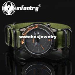 Canada -INFANTRY - Montre de poignet en nylon vert sport avec affichage de la date - Quartz analogique supplier infantry watch Offre