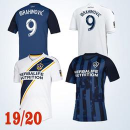 Futebol galaxy on-line-Ibrahimovic MLS Los Angeles Galaxy Camisa de Futebol 2019-2020 Nova LA Galaxy Jersey 9 Ibrahimovic 10 Giovani 11 KAMARA Personalizável