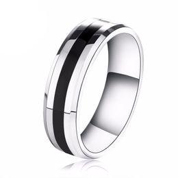 2019 anel de carboneto de tungstênio tamanho 13 6mm mens titanium anéis de aço inoxidável banda de casamento grosso linha preta banhado anel de carboneto de tungstênio nos tamanho (5-13) anel de carboneto de tungstênio tamanho 13 barato