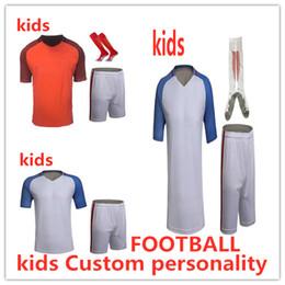 beb52ce8858b3 2019 uniformes baratos jerseys de fútbol Kids Soccer Jerseys Sets  Survetement Football Kits niño DIY Personalizado