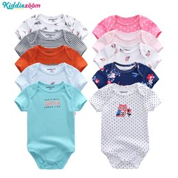 12 month boys rompers Promo Codes - Boys Summer Clothes Set Rompers Cotton Short Sheeve Roupa de bebe Baby Boy Clothes Bodysuit Set 0-12 Month Infant Girl
