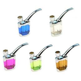 2020 tubos de líquido 5 cores quentes dupla finalidade Água tabaco para cachimbo piteira líquidos Smoking Isqueiros filtro fumadores Acessórios A02 tubos de líquido barato