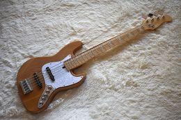 Белый пикап онлайн-Бас-гитару цвета фабрики изготовленную на заказ естественную деревянную электрическую с 5 строками,Белый Pickguard перлы,оборудование Крома,Высокомарочное,можно подгонять