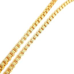 Correntes extravagantes para jóias on-line-USENSET Popular 18 K Caixa de Aço Inoxidável de Ouro Colar de Corrente 5 MM 18-24 Polegadas Grão de Fantasia de Jóias de Alta Qualidade Preço de Fábrica YB04