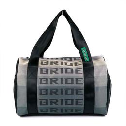 Женские сумочки онлайн-Сумка Messager гоночной сумки стиля JDM BRIDE Дорожная сумка с ремнями гоночных ремней