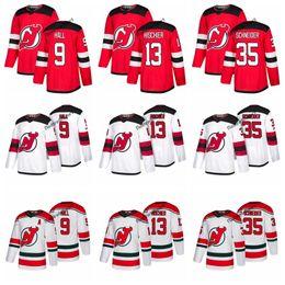 cdfb1a65b 2019 New Jersey Devils Hockey Jerseys 13 Nico Hischier 35 Cory Schneider 9  Taylor Hall Custom Name Alternate Stitched Shirts S-XXXL