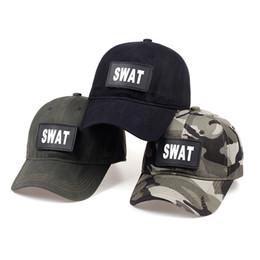 Gorras de béisbol fuerzas especiales online-TUNICA fuerza especial SWAT Tactical casquillos para hombre Marca gorra de béisbol de Estados Unidos swat camuflaje sombreros del snapback del casquillo del sombrero Gorras Planas