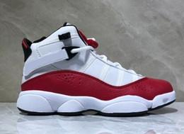 Comprar zapatos de baloncesto online-Descuento Hombres baratos 6 Anillos reequipados zapatos de baloncesto, buen precio tiendas de compras en línea para la venta botas, entrenadores deportes atléticos zapatos para correr