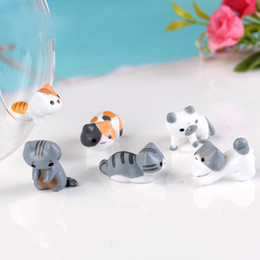 Simulato Cat Ornament 6 Styles Moss Micro Landscape Decoration Studente ama regalo Piante grasse Pot Accessory Miniature Fairy Garden supplier miniature fairy garden plants da piante da giardino in miniatura fornitori