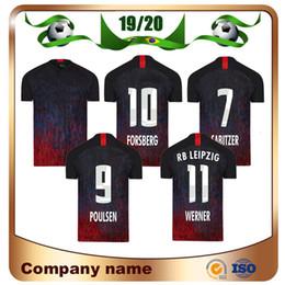 2020 uniformes de futbol negro 19/20 versión CL toros rojos de fútbol negro de los jerseys 2020 del club de la liga Bundesliga Sabitzer WERNER fútbol Camisas Uniformes POULSEN NKUNKU Fútbol uniformes de futbol negro baratos