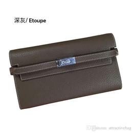 2020 importierte brieftaschen Charm2019 Imported Head Layer TOGO Kelly Brieftasche Rindsleder Cortex Dickes, weiches Gefühl Feines Korn Langer Absatz Hand Nehmen Paket günstig importierte brieftaschen