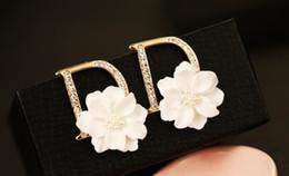 2019 gabinetes coreanos Marca de luxo Designer de Jóias Mulheres Brincos Congelados Para Fora Bling Diamante Brincos Swarovski Mulheres Pregos De Prata Anel de Orelha Coração De Cristal Do Oceano