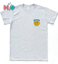 emoji iphone Coupons - Emoji Angel Face T-shirt Iphone Funny Wink Indie Happy Hipster Indie Top