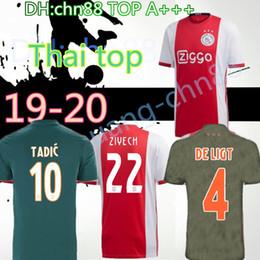 camisas uniformes brancas Desconto tamanho: S-4XL 2019 2020 casa Ajax vermelho branco Camisas de futebol 19 20 Ajax longe camisa de futebol 2019 # 10 TADIC # 34 NOURI # 25 DOLBERG uniforme de futebol