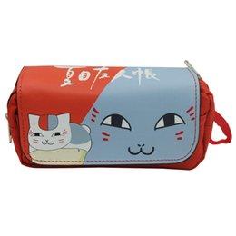 Billetera totoro online-Mi vecino Totoro Natsume Yuujinchou Wallet Cosplay Madara Portalápices Estuche escolar Bolsa de lápices Bolsas de papelería Monedero