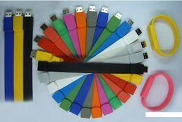 Fabricantes atacado criativo pulseira de silicone U pulseira disco pulseira U disco 8G 16G 32G 64G uma variedade de cores S030 de