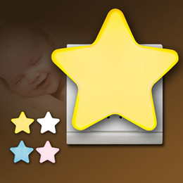 Sensor de Controle de Luz Noturna da UE EUA Plug Novidade Estrela Quarto Luz Da Noite Para O Presente Do Bebê frete grátis - I70 de