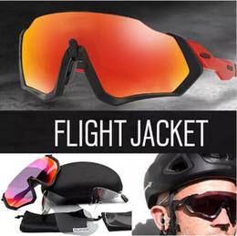 2019 mode veste de sport Flight Jacket Cyclisme Lunettes OO9401 Mode Homme Polarisé TR90 Lunettes De Soleil Sport En Plein Air Running Lunettes 3 lentilles cyclisme en plein air mode veste de sport pas cher