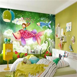 kids fairy tale wallpaper Promo Codes - custom size 3d wallpaper photo wallpaper dream fairy tale