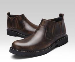 2019 bottes directes d'usine Le printemps et l'automne, cuir hommes, bottes, et Martin, chef de la mode rétro, bottes de mode, chaussures de sport, direct usine n11 bottes directes d'usine pas cher