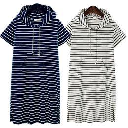 2019 blusa blanca de manga corta Sudaderas con capucha de las mujeres vestido de la camisa de manga corta de verano blanco y negro blusa de rayas vestidos de trabajo informal vestido de oficina rebajas blusa blanca de manga corta