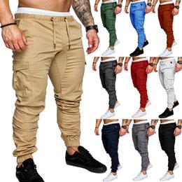 pantalon cargo design hommes Promotion Designer de luxe Mens Joggers Pantalons de survêtement Casual Men Pantalons salopettes Tactics Pantalon taille élastique Cargo Pants Pantalon de jogging de mode