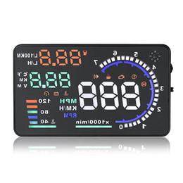 2020 a8 hud Universale A8 5.5 pollici auto HUD Head Up Display OBDII Velocità Consumo di carburante Attenzione Sistema di allarme diagnostico dell'automobile di dati sconti a8 hud