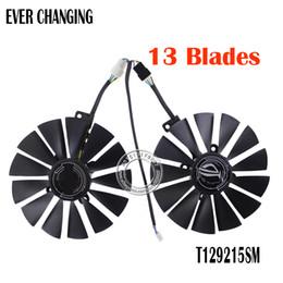 Asus fans kühlung online-Lüfter T129215SM DC12V 0.25AMP Grafik- / Grafikkarten-Lüfter FÜR ASUS STRIX RX570 4G GAMINGGraphics-Kartenlüfter
