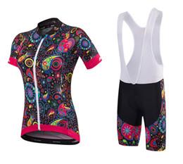 Frauen radfahren trikot kits online-2019 Coodoopai Radfahren Kleidung stellten kurze Hülse Jersey und Hosen Kit Sommer-Frauen-Fahrradkleidung MTB Ropa Ciclismo Kleidung