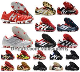 Beckham schuhe online-Classics Predator Precision Accelerator Electricity MANIA FG DB 5 Beckham Becomes 1998 Männer Fußball-Schuhe Klampen Fußballschuhe Größe 39-45