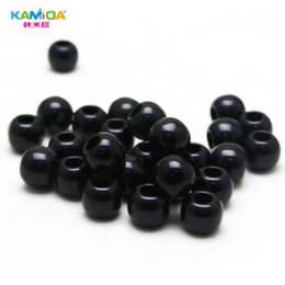 2019 acrylseil 500 stücke acryl perlen diy großes loch runde schwarze lose perlen tasche kleidung seil box kleidung seil kleidung schnürsenkel zubehör günstig acrylseil
