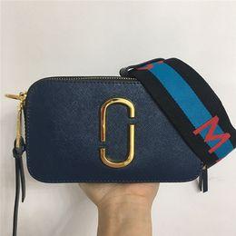 Diseñadores bolsa de correas online-Diseñador de alta calidad marca bolso de hombro femenino color ancho cremallera de hombro mini bolso cuadrado monedero móvil bolso de mensajero