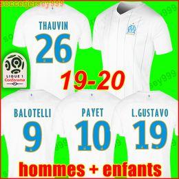 camisa xs Desconto Top Tailândia 19 20 camisa de futebol Olympique De Marselha OM marseille soccer jersey football shirt 2019 2020 PAYET GUSTAVO THAUVIN camisa de futebol uniformes homens crianças