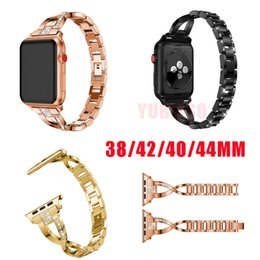 fitbit new watch Promo Codes - New for 38mm 40mm 42mm 44mm Wristband Luxury Diamond Bracelet for Apple Watch iWatch Series 1 2 3 4 Band Stainless Steel Strap