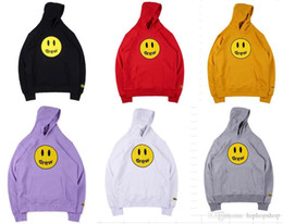 2019 Drew House Hoodies Femmes Hommes Justin Bieber Tie Graffiti Dyeing Fashion Casual qualité haute Drew House Sweat ? partir de fabricateur