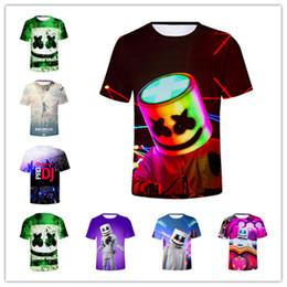 dj top music Rebajas Diseñador de los hombres Camiseta Marshmello 3D Camiseta DJ Música Algodón TshirtS Hombres Mujeres Hip-pop Tees Streetwear Casual Summer Tops Tallas grandes A53004