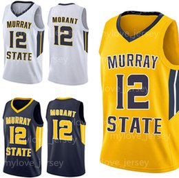 Argentina 12 Ja Morant Jersey NCAA Murray State Racers Blue College Camisetas de baloncesto Bordado Jersey cosido Envío gratis zxlicyvzxcv Suministro