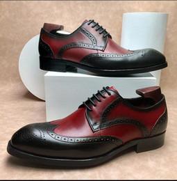 Vintage Herren Brogue Schuh Klassiker Blake Oxfords Halbschuhe Geschäft Formal Herren Anzug Grau Schwarz Braun Schnürsystem