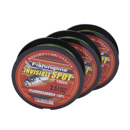 Starke linie online-150m Super Strong Nylon Angelschnur Flourocarbon Coated Spotted Angelschnur Abriebfest Invisible Fishing Leader Line 2019
