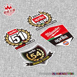 Pour Aprilia Racing RS4 RS125 RS250 Tuono Caponord RSV4 moto casque moto autocollant moto vélo décalque étanche 20 ? partir de fabricateur