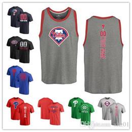 2019 Individuelle Männer Frauen Jugend PA Baseball Phillies T-Shirt Personalisierte Name und Nummer Banner Welle Baseball Tri-Blend Tank Top Trikots von Fabrikanten