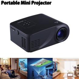 Top mini téléphone portable en Ligne-Mini ménage HD Miniature LED Projecteur 3D Home cinéma Portable Projecteur de téléphone portable Haute qualité objectif de focalisation 1080 P HD TOP