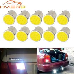 12v вел 5w cob lights Скидка 10X Белый Cob P21 5w 12Led 1156 BA15S 1157 BAY15D DC 12v Rv трейлер грузовик светодиодные лампы парковка авто ширина лампы номерного знака свет