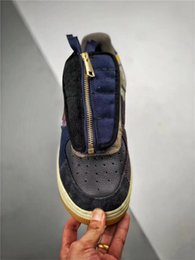 sapatas do natal de kevin durant Desconto 2019 Authentic Travis Scott X Air 019force 1 Low Cactus Jack Multi Color Muted Bronze fósseis Homens Mulheres Cn2405 -900 Esportes Running Shoes