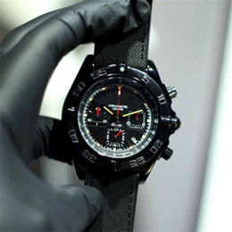 relógios de lona pulseira militar Desconto Luxo mens relógios de grife 43mm cinta de lona militar importado movimento de quartzo relógios de Pulso 316 montre de luxe de aço inoxidável