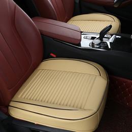2019 coprisedili in pelle per auto Coprisedile per auto Pelle 3D Full Surround Protezione per seggiolino auto Tappetino traspirante per sedia automatica Cuscino di guida per quattro stagioni coprisedili in pelle per auto economici